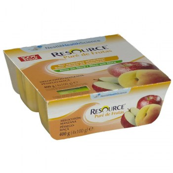 resource pure meloc manzana 4x100 g